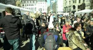 Demonstration og sælfest i Kbh.