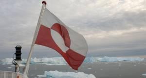 Flag, isfjelde, grønlandsk