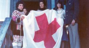 Prinsgemalen i Kalaallit Røde Korsiat 1985