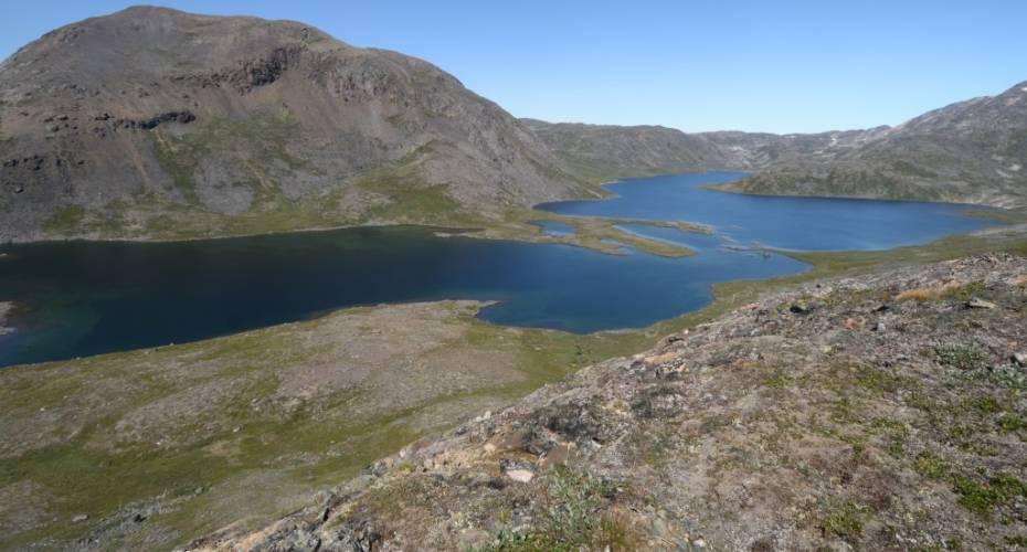 Langesø, Bratten, Laksefjeld, fraløb til Bryggeren, elv, Grønnedal