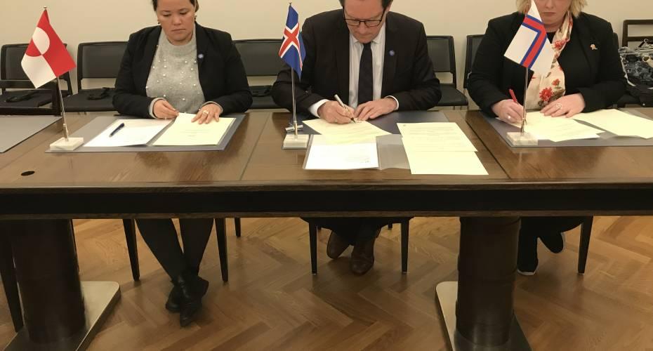 Vestnordiske ministre underskriver aftale