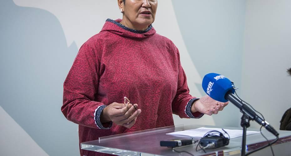 Aleqa Hammond, pressemøde