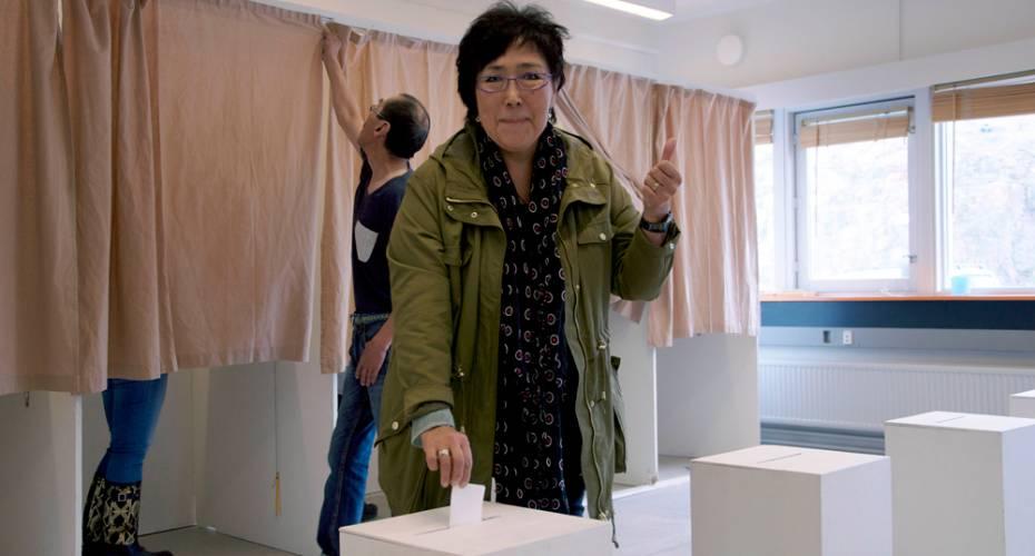 Ane Hansen, IA, stemmer, folketingsvalg 2015, Aasiaat