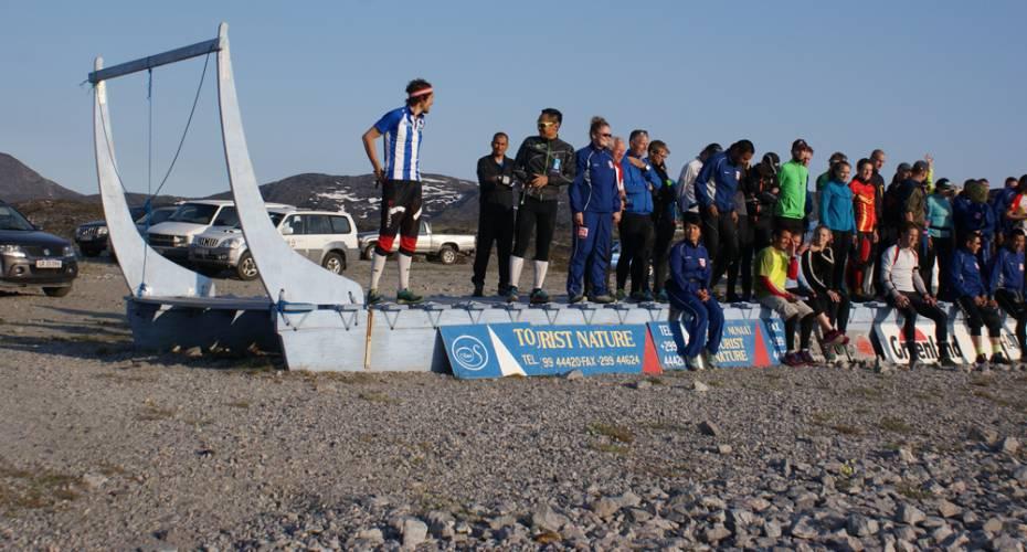 AMO, Arctic Midnight Orienteering, Ilulissat, deltagere, hundeslæde