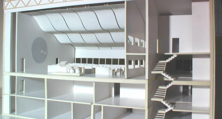 Ny landstingssal, snitmodel, facaden, udvidelse