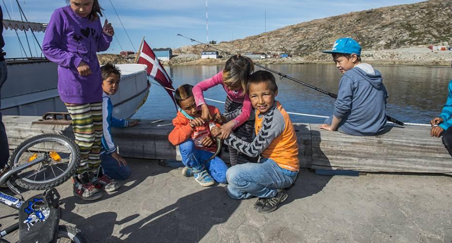 Børn, Upernavik, torsk