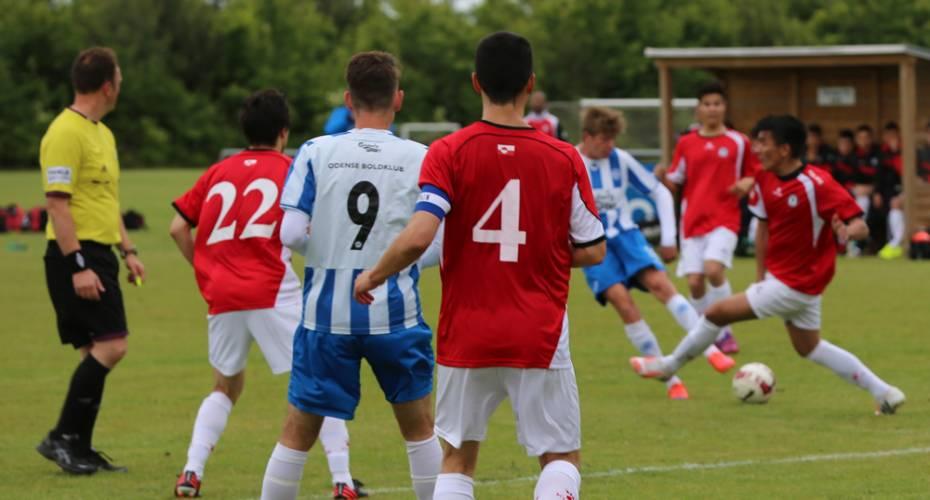 Fodboldkamp, landdshold, OB, U19, landshold