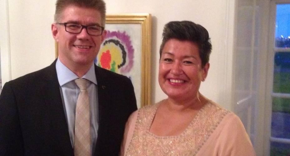 Aleqa Hammond og Gunnar Bragi Sveinsson