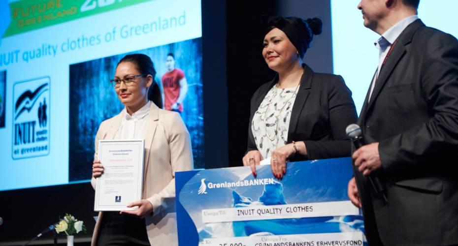 Hanne Kristiansen, Dorthea Rødgaard, Kristian Lennert, Grønlandsbakens Erhvervsfond