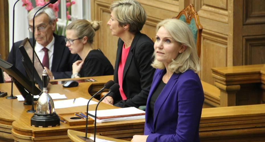 Helle Thorning-Schmidt, Folketingets talerstol