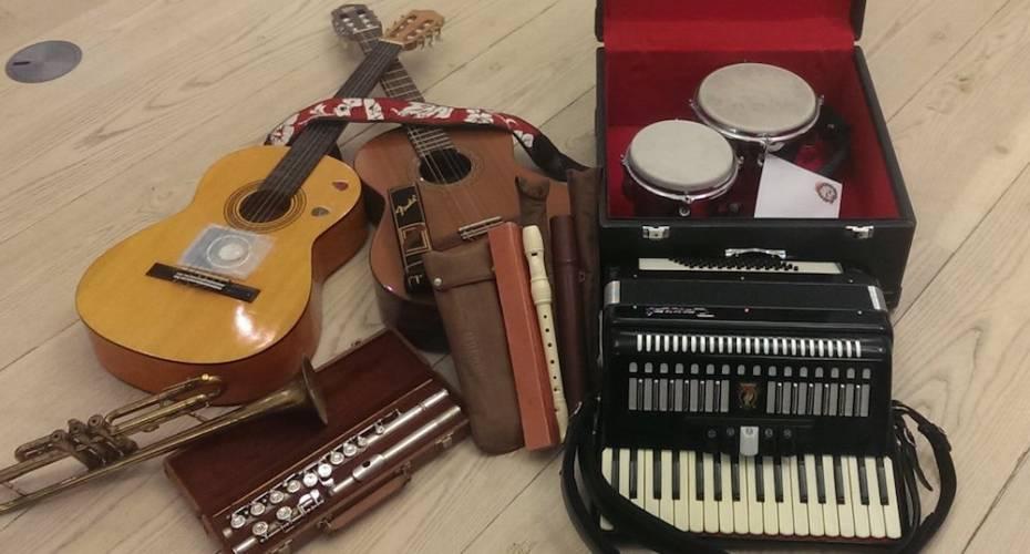 brugte musikinstrumenter