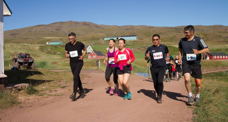 Leif den lykkeliges maraton, Qassiarsuk, Storch Lund, Tine Chemnitz; Grethe Nielsen; Aggu Bendtzen, Kalista Lund