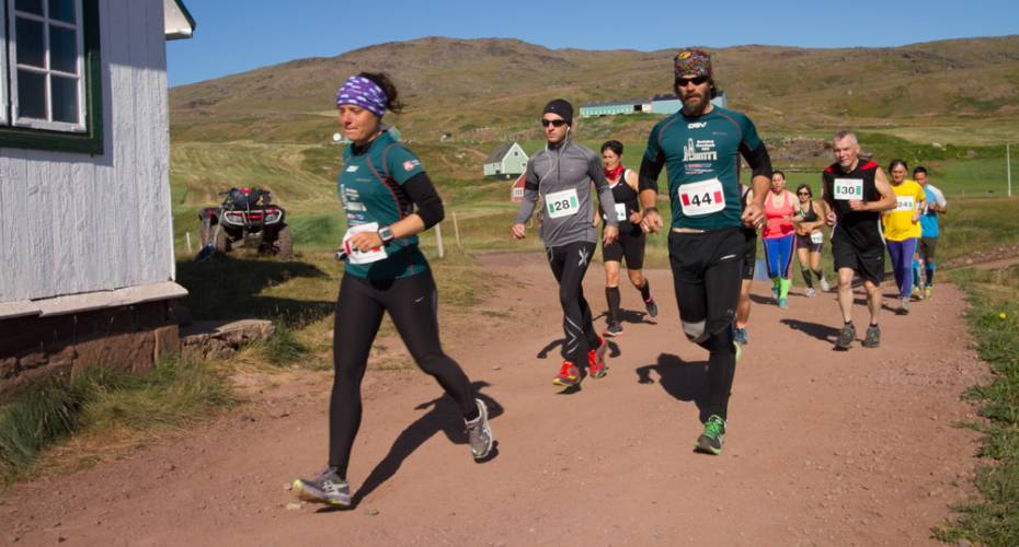 Leif den Lykkeliges Maraton, Qassiarsuk, Louise Knudsen, Rogen Svensson, Henrik Knudsen.