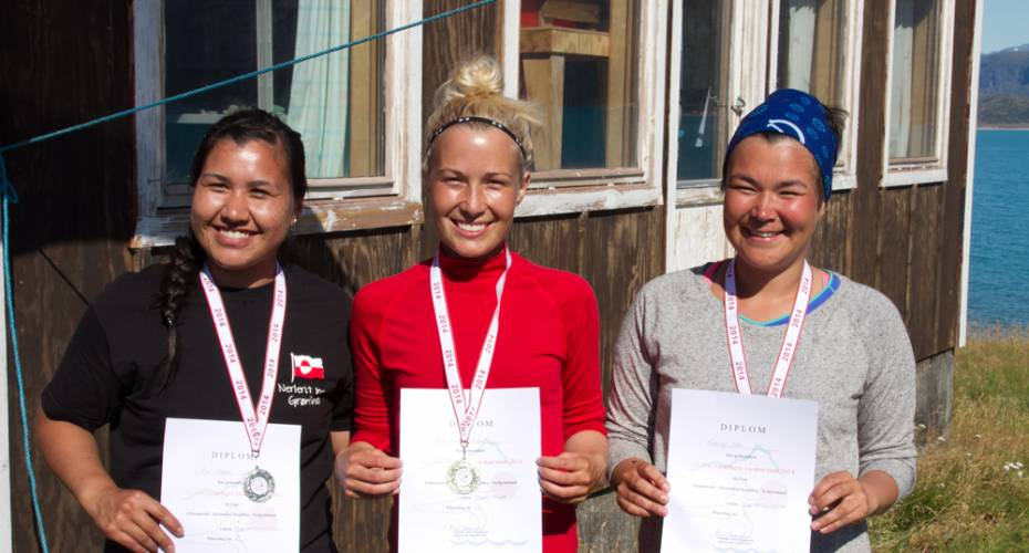 Vivi Olesen, Lisa Lund Fleischer, Avaaraq Olsen, 1/4 marathon