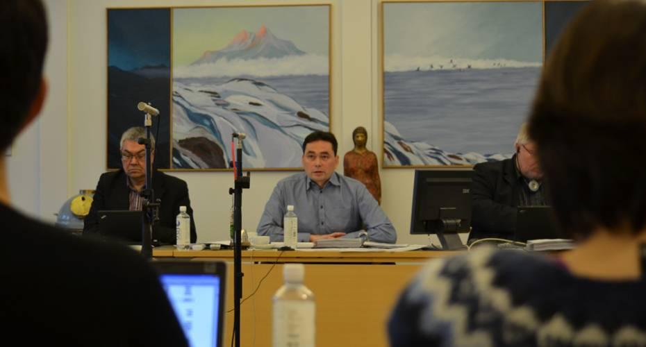 Jørgen Wæver Johansen, byrådsal, Kommune Kujalleq