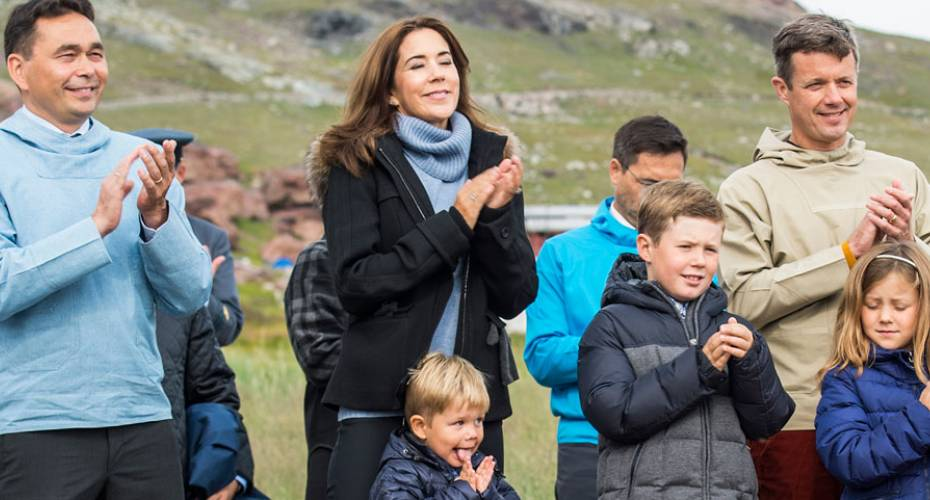 Kronprinsfamilien i Sydgrønland