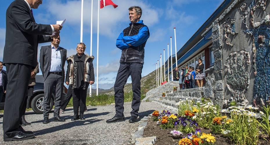 Kronprinsparret, Qaqortoq, Sulisartut Højskoliat, Frederik