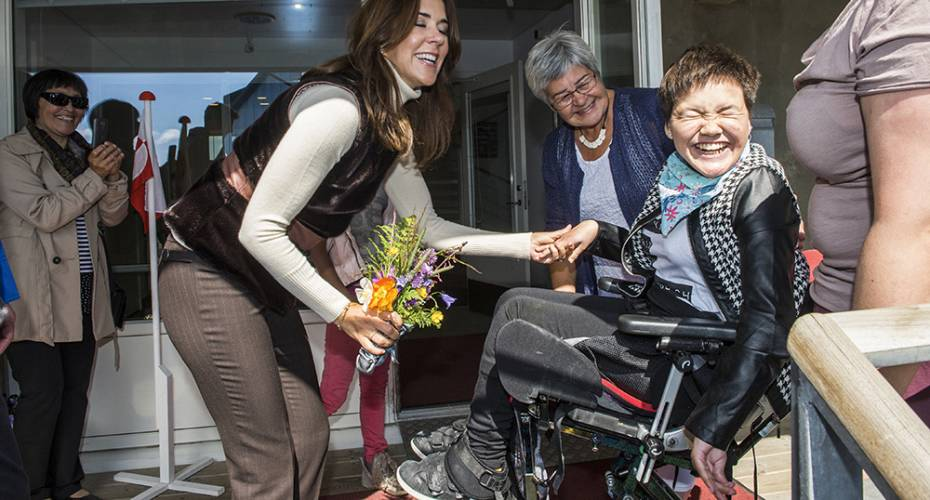 Kronprinsparret, Qaqortoq, handicapinstutionen Ivaaraq, Nina Vetterlein
