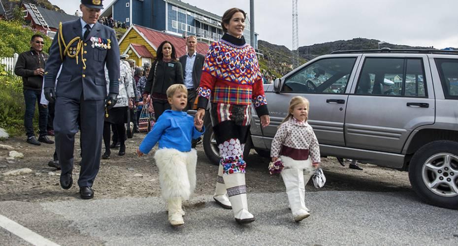 Kronprinsfamilien, Qaqortoq, Mary, tvillingerne, Vincent, Josephine