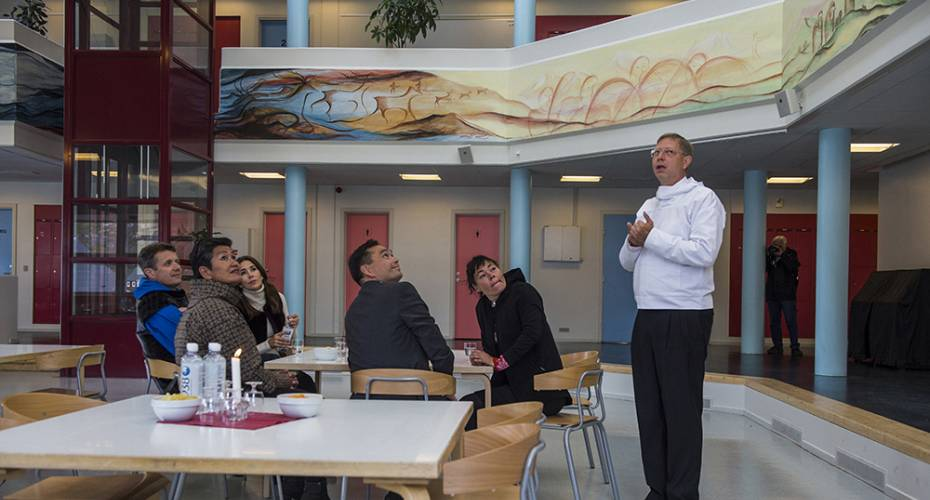 Kronprinsfamilien, Qaqortoq, Campus Kujalleq, forstander Steffen Lund, Aleqa Hammond, Jørgen Wæver Johansen