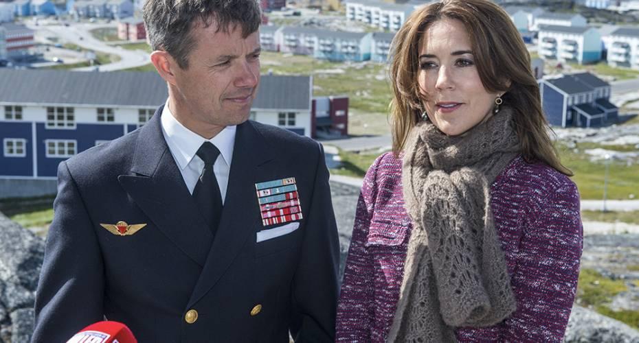 Kronprinspfamilien i Nuuk, kronprinsparret på Naturinstitut, interview