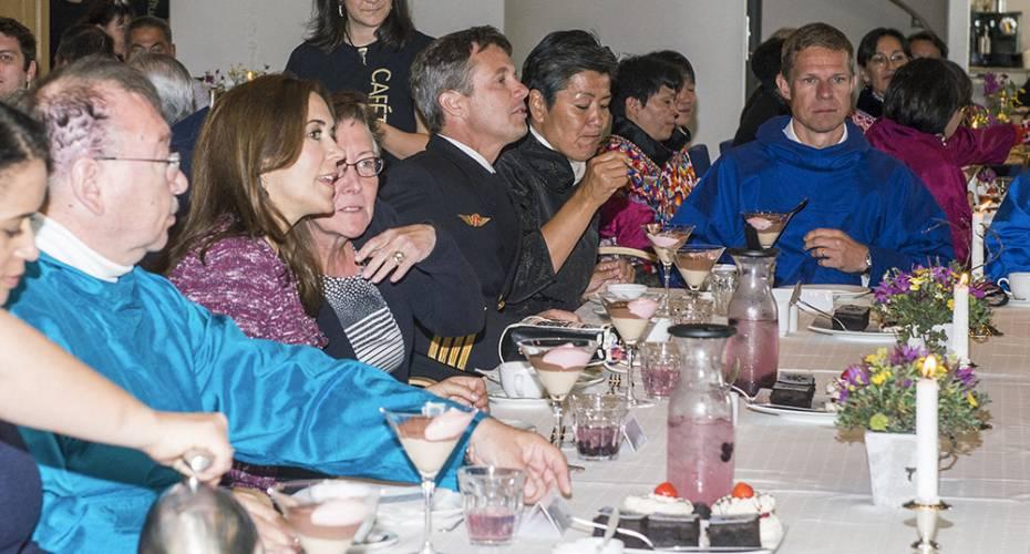 Kronprinsfamilien i Nuuk, Katuaq, kaffemik