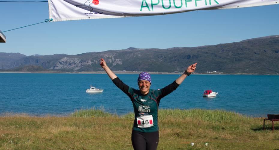 Leif den Lykkeliges Maraton, Qassiarsuk, Louise Knudsen, Marathon