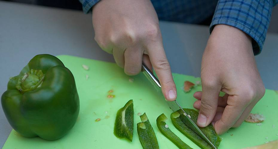 Stop Madspild, grøn peber