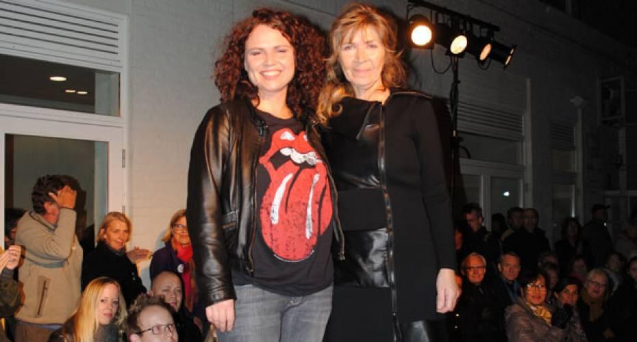 77c7a06fbe0 Nickie og Rita Isaksen præsenterer deres efterår -og vinter 2011  kollektioner ved en stand i Øksnehallen under modeugen i København.