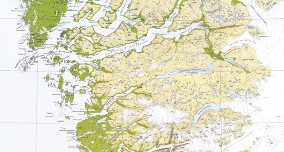 Landkort For Rensdyrjaegere Sermitsiaq Ag