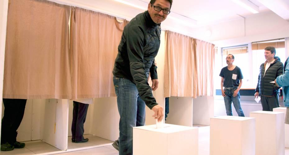 Peter Olsen, folketingsvalg, 2015, Aasiaat, stemmer