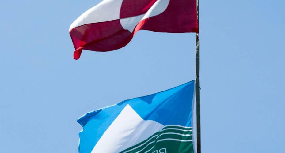 Krans, flag, rejsegilde, Narsaq, skole