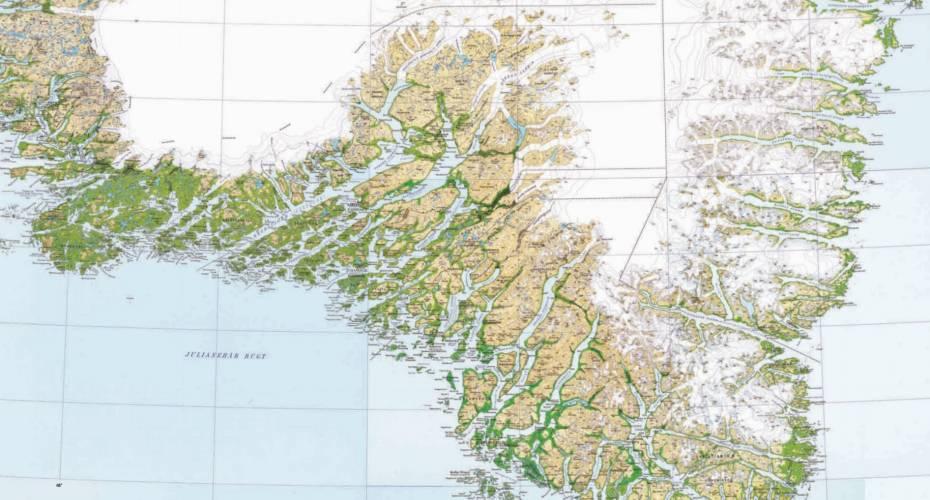 Udgiver Historiske Og Enorme Landkort Sermitsiaq Ag