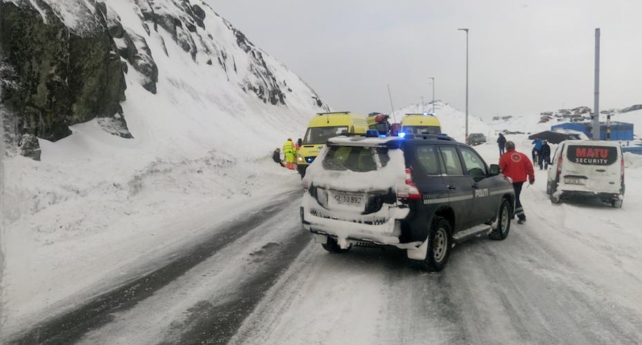 Trafikuheld ved 400-vejen ved Nuuk Havn