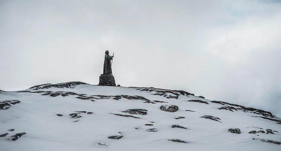 Hans Egede i sne