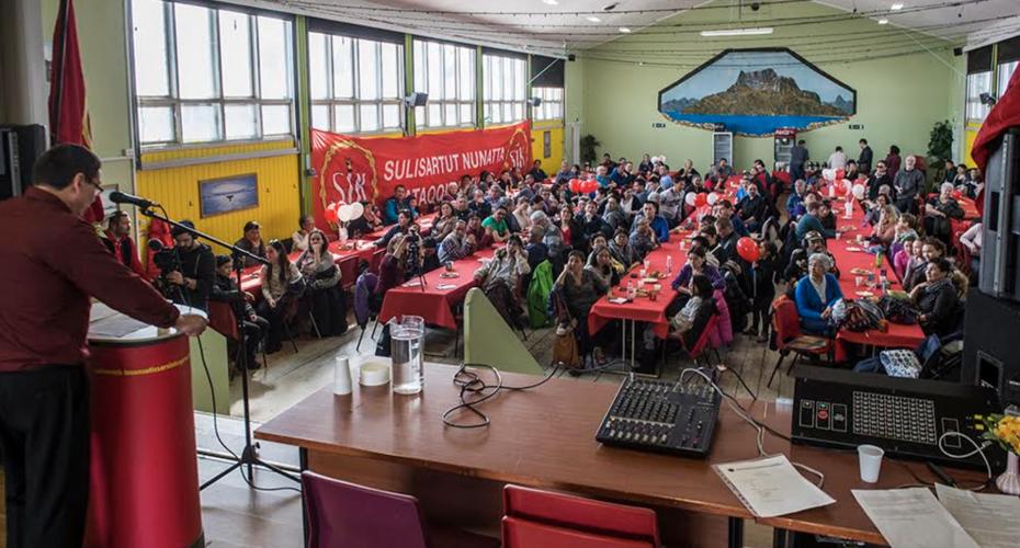 1. maj forsamlingshuset i Nuuk