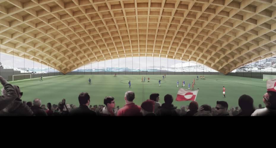 Arktisk stadion - indefra