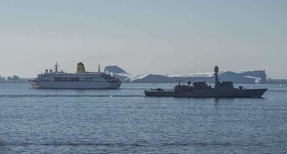 Thetis, inspektionsskib, krydstogtskib, Deutschland, Upernavik