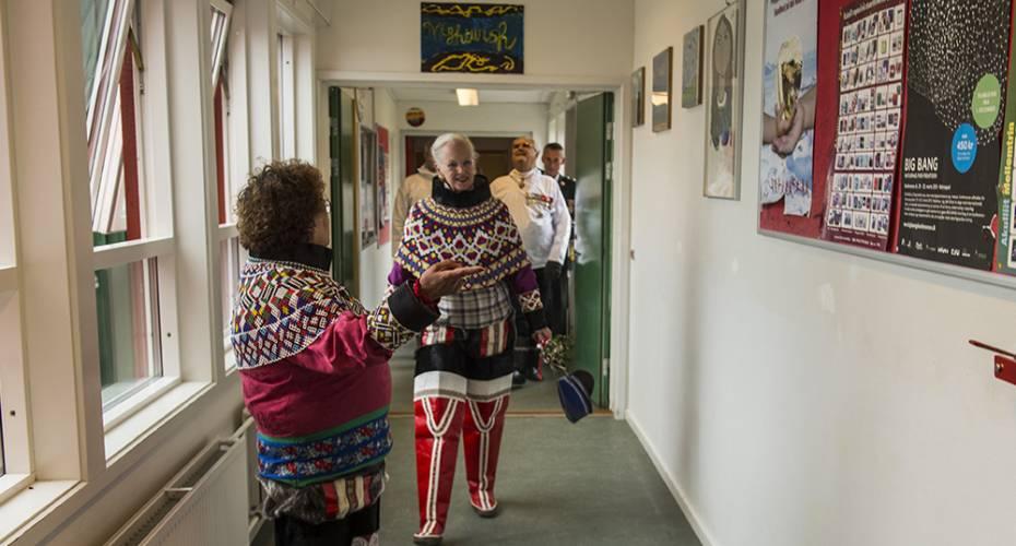 Regentparret, Upernavik, Prinsesse Margrethe skolen, 120715