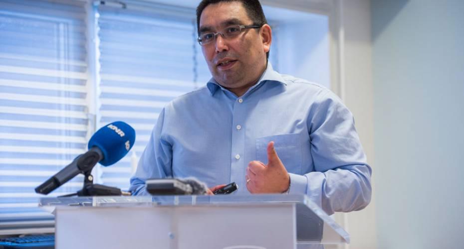 Vittus Qujaukitsoq, naalakkersuisoq for finanser og indenrigsanliggende